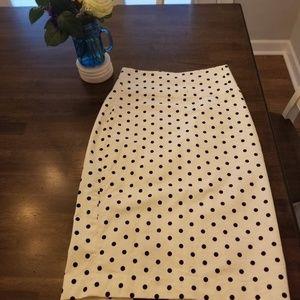 Express High Waisted Polka-Dot Pencil Skirt